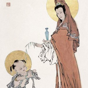 Guanyin with Sudhana painting